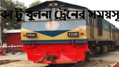 Dhaka To Khulna Train Schedule